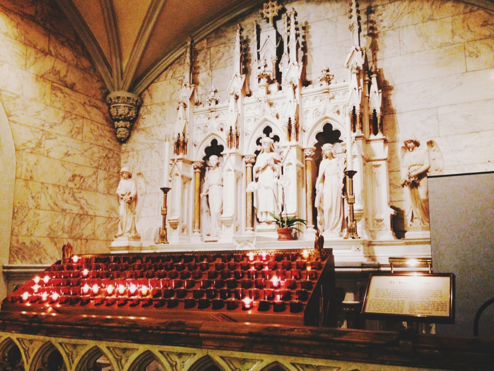 candles in st. patricks