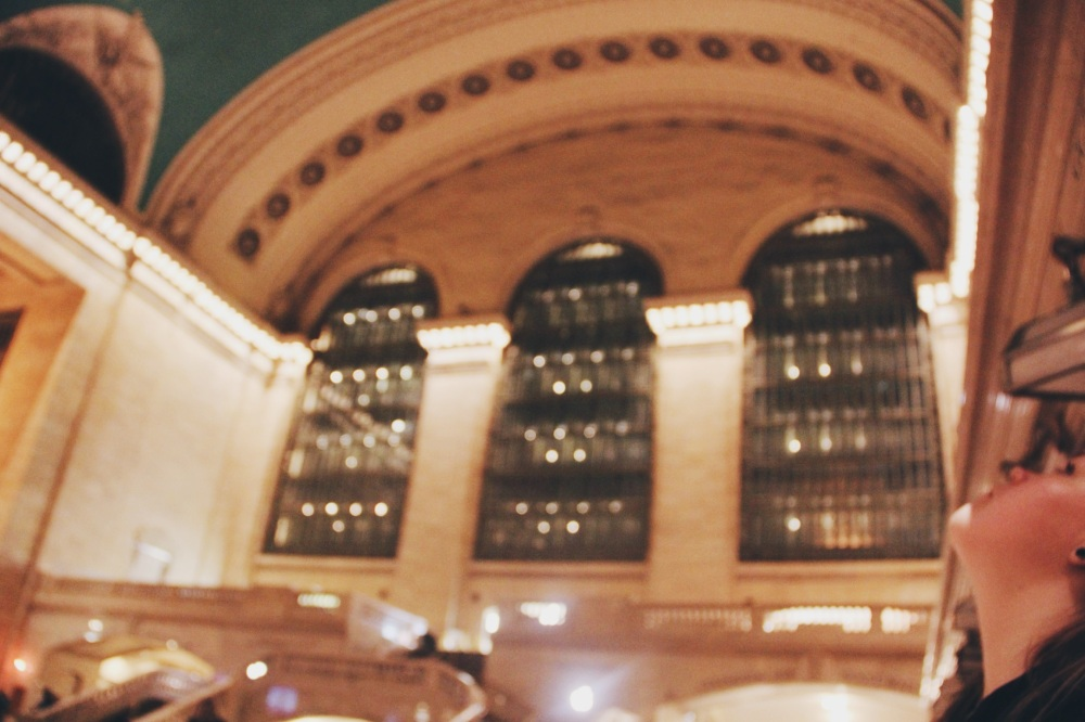 Kat Looks Up in Grand Central