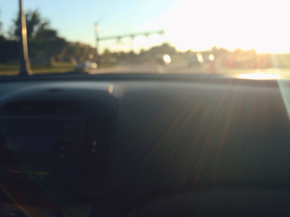 driving in the sun