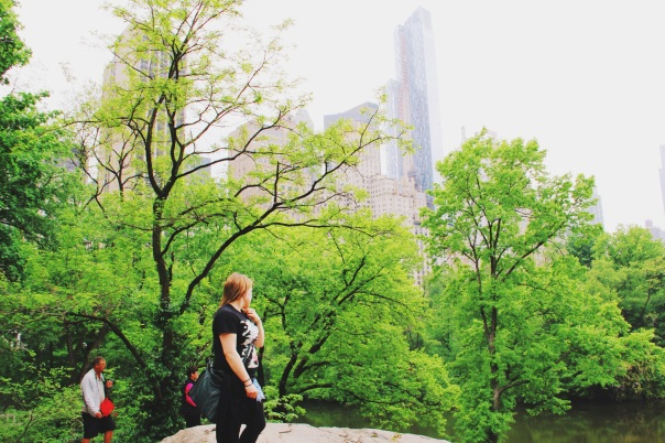 Kat looking out over Central Park