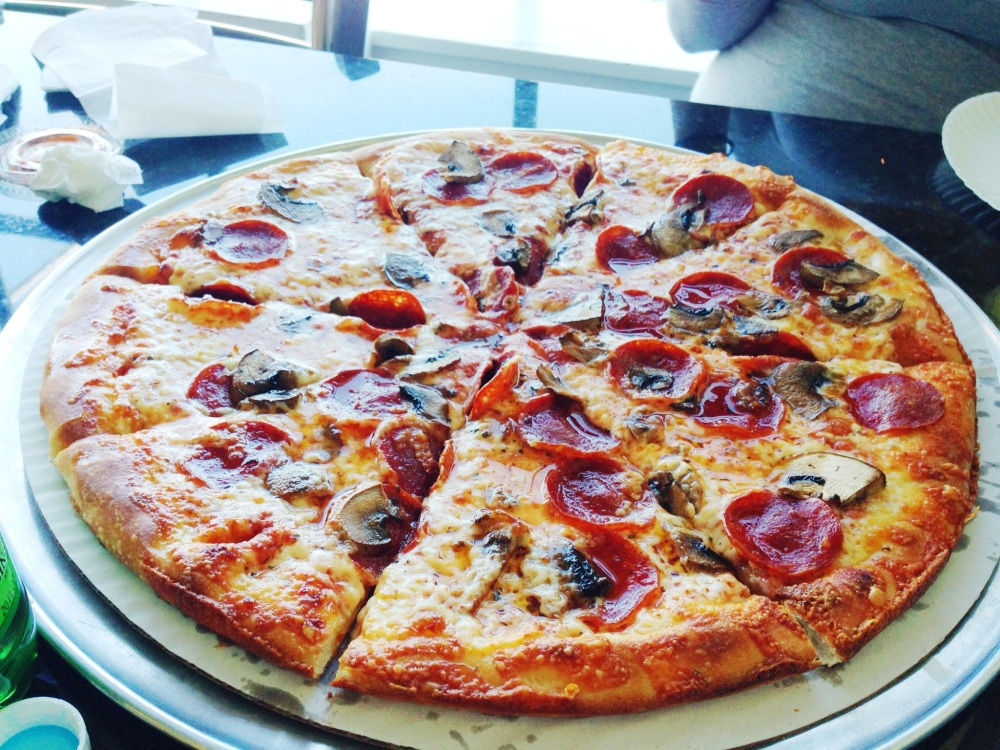 Pepperoni and Mushroom pizza in Gloucester