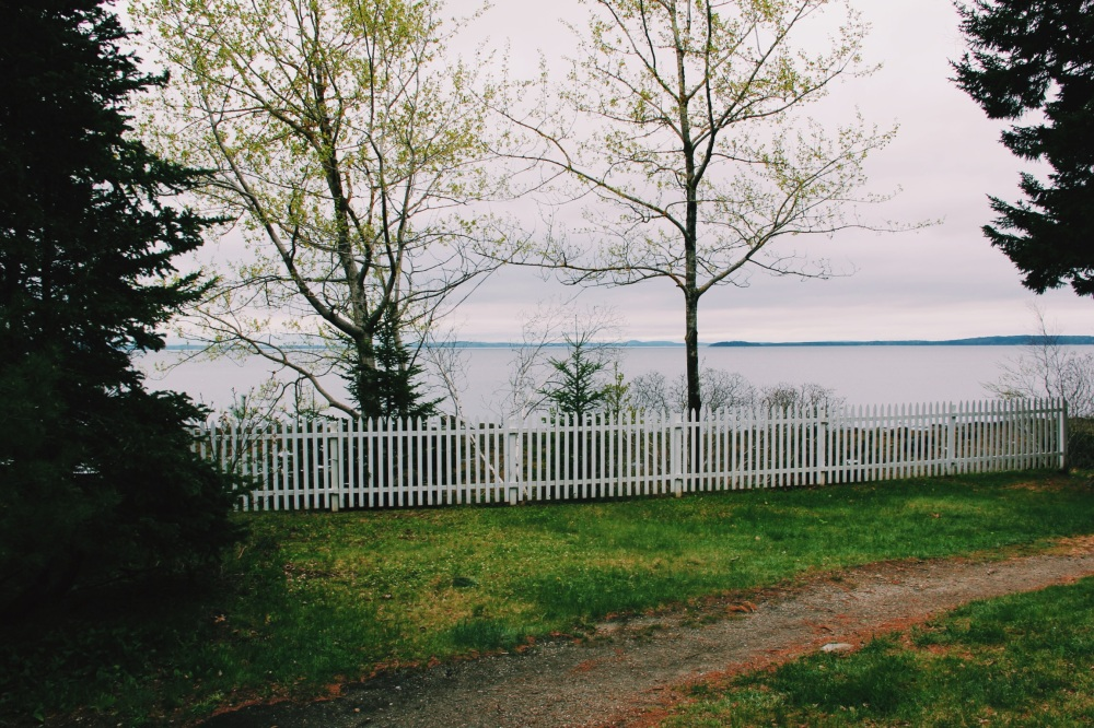 A fence here, Maine