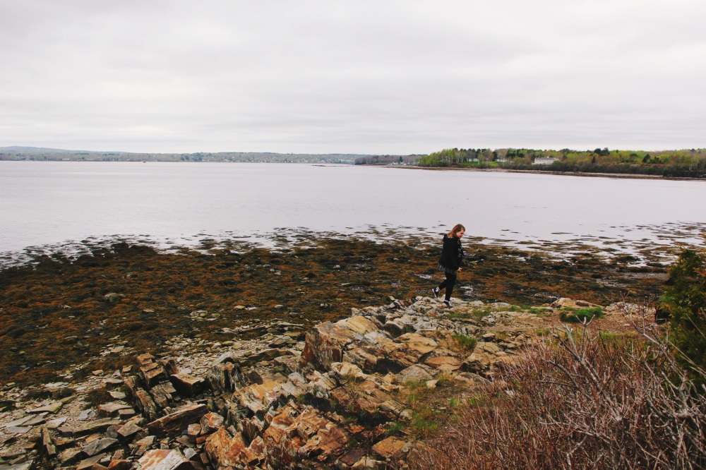 Kat and the Maine coastline