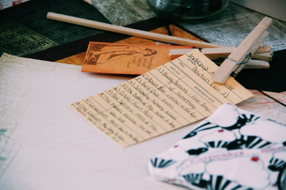 A vintage Feel, from penpals, library catalogue cards