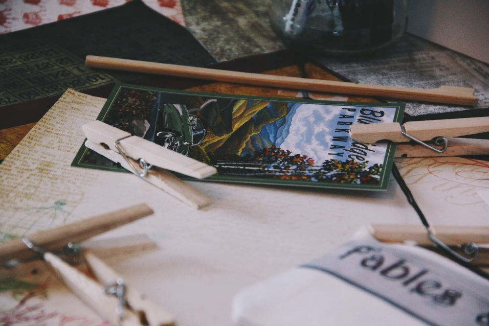 Blue Ridgeway Postcard and Fables