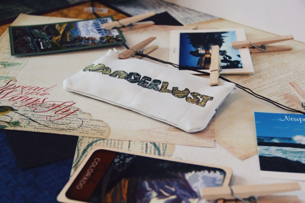 Wanderlust Pencil Case Travel Postcards