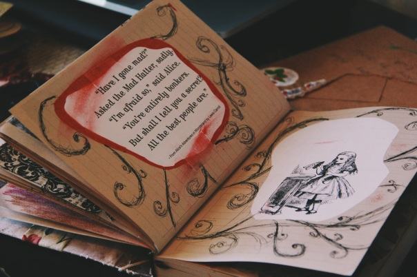 Alice In Wonderland Art Journal Page