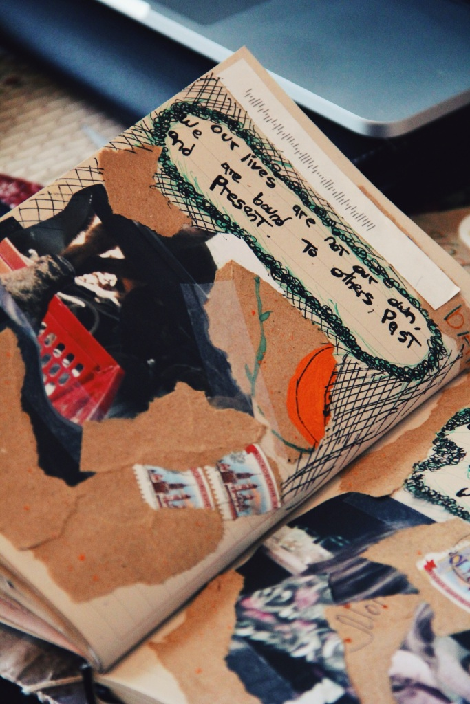 ripped pages and literature art journal