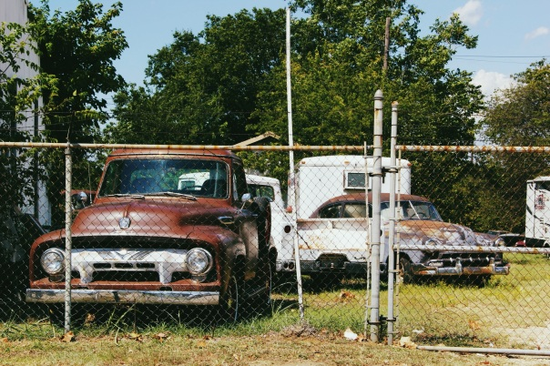 Vintage cars in Pilot Point Texas