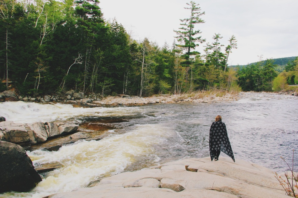 Kat in the rivers of New Hampshire