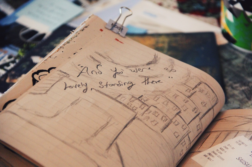 """and you were standing there"""" sf sketch"""