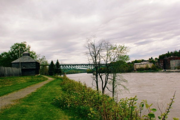 Augusta Maine, across the banks