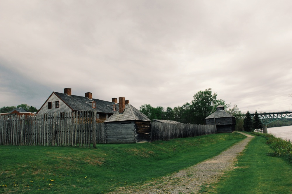 Old Fort Western Augusta Maine River photography