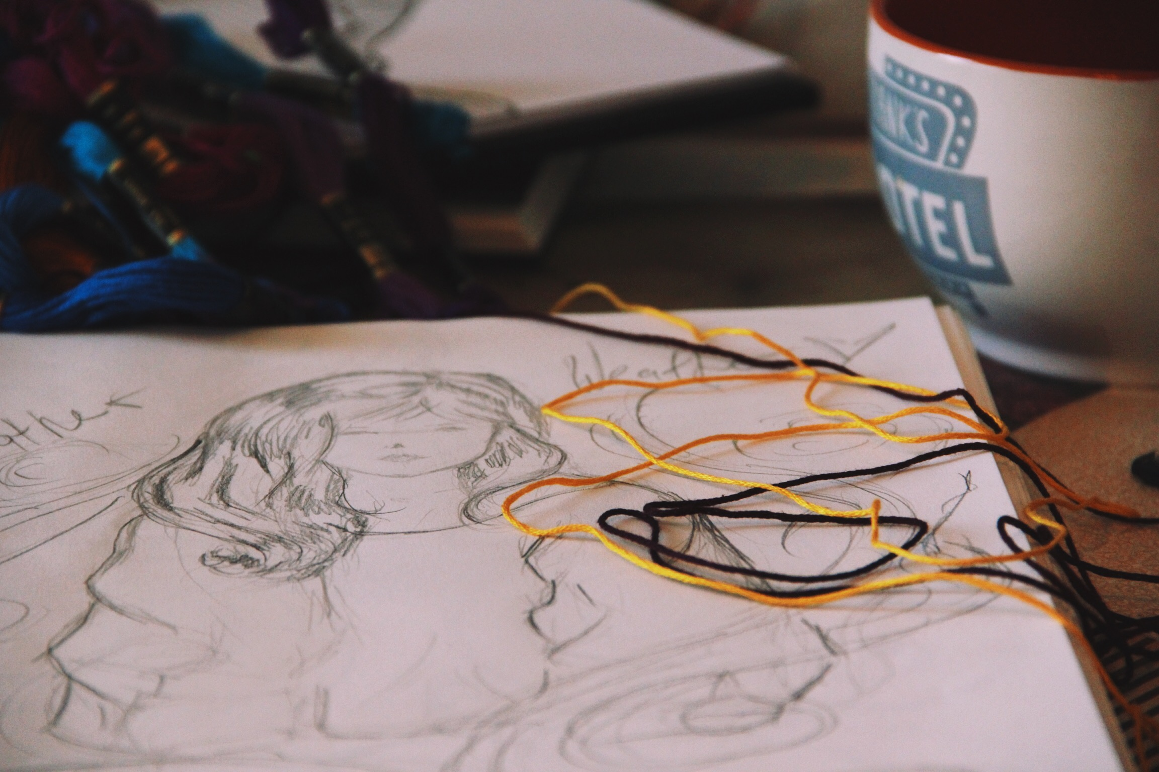 Sweater Weather (or as close as it gets in Texas) – Sketch Sunday | Sleepy Coffee and Fables