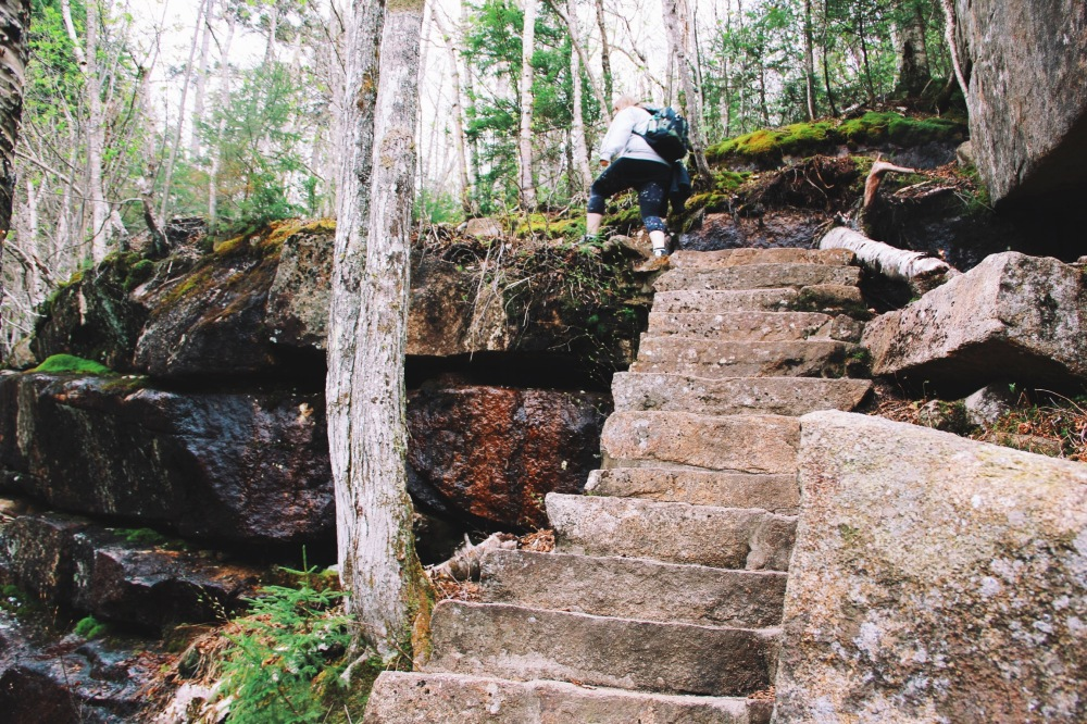 Up the steps, New Hampshire travel photography