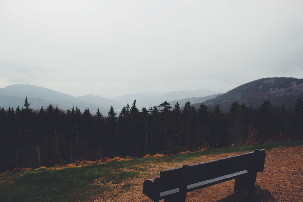 Take a seat, see the view, mountains in New Hampshire
