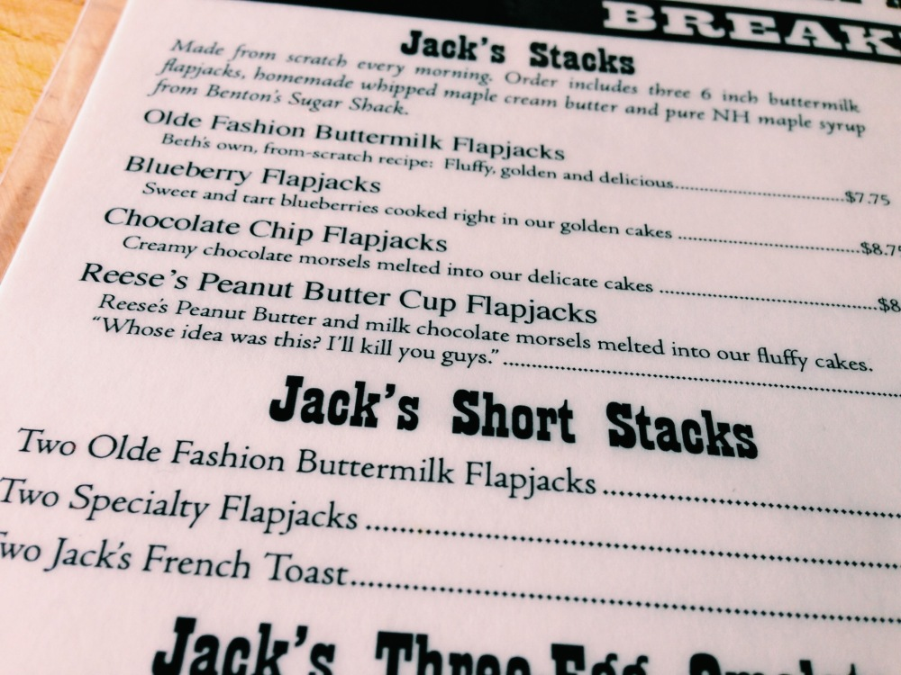 We Could Eat Here Every Day, Flapjacks, NH