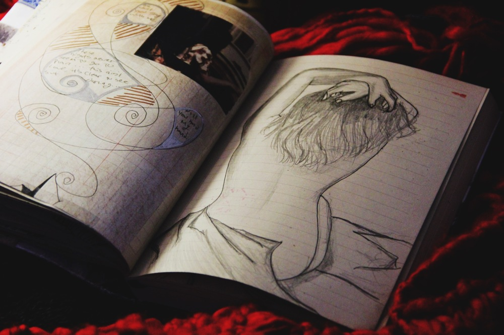 Figure Drawing Art Journal Page