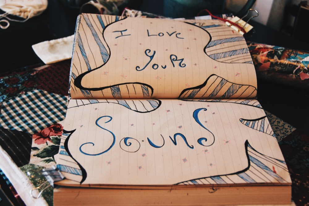 I love your sound, art journal page