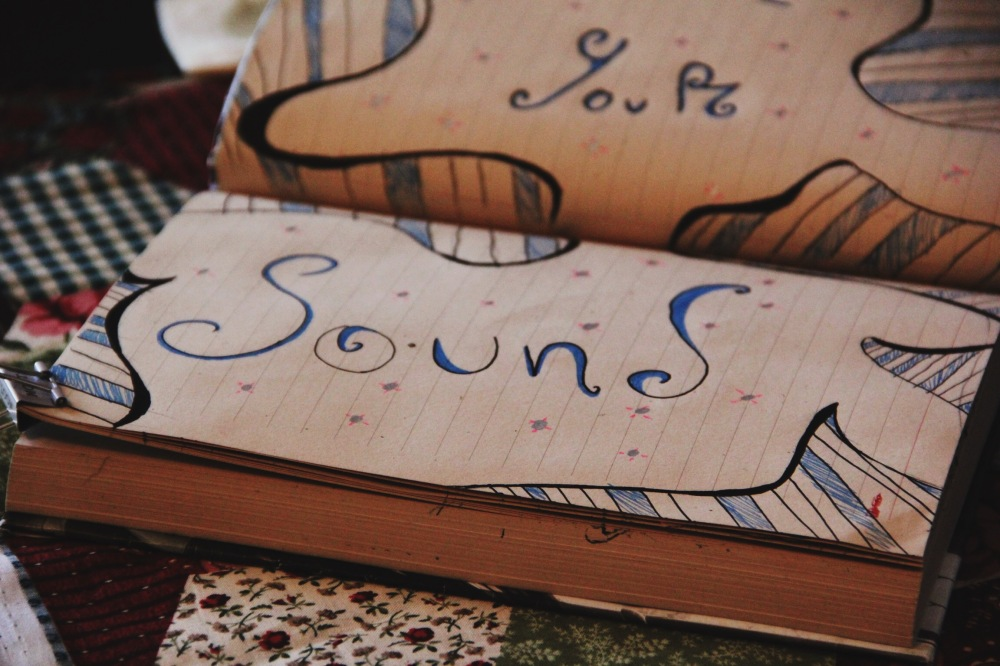Sound, sketch art journal page