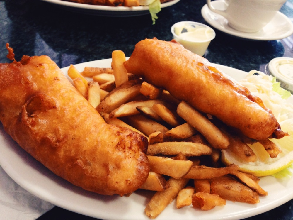 Fish and chips in Rhode Island