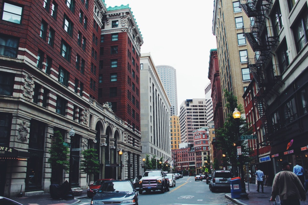 City Streets, architecture in Boston, MA