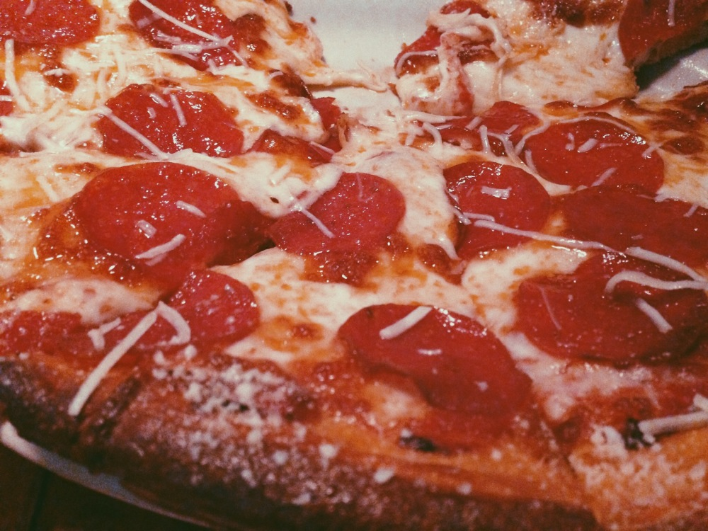 Pizza at the Shaft (seriously)