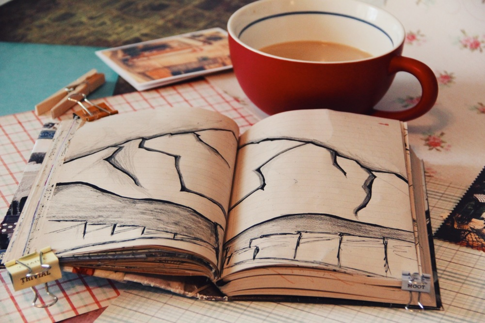 coffee, art journals and mountains