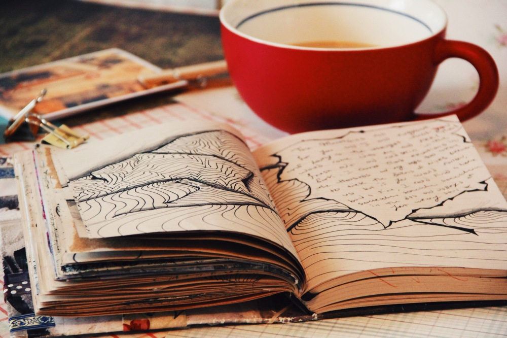 coffee and art journals