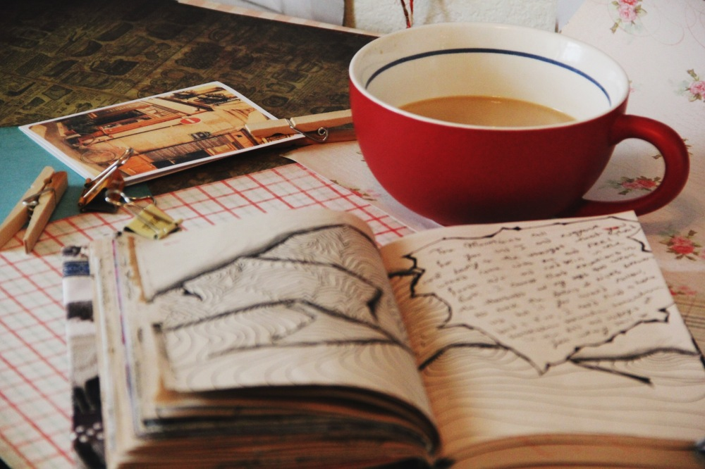 fables and coffee, art journal stuff