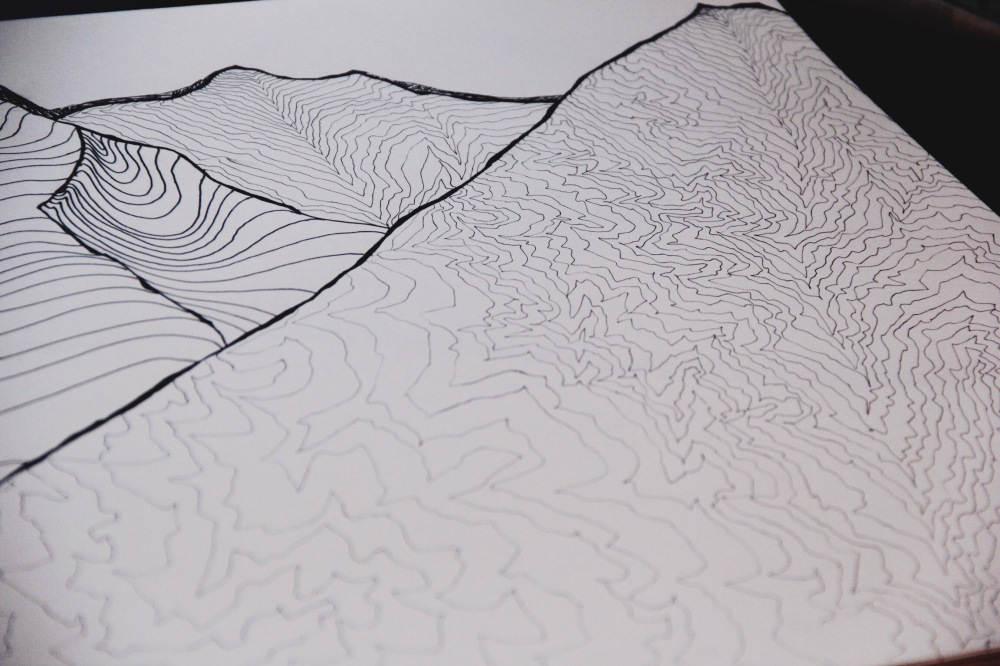 mountains and topography drawing