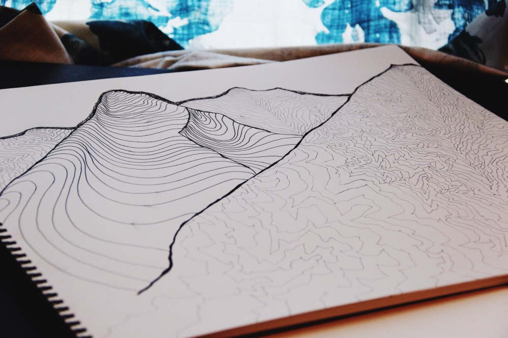 mountains, mountains, sketch