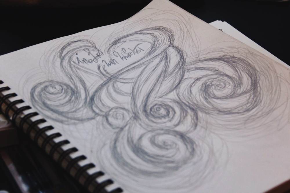 i love with Wanderlust, rough sketch