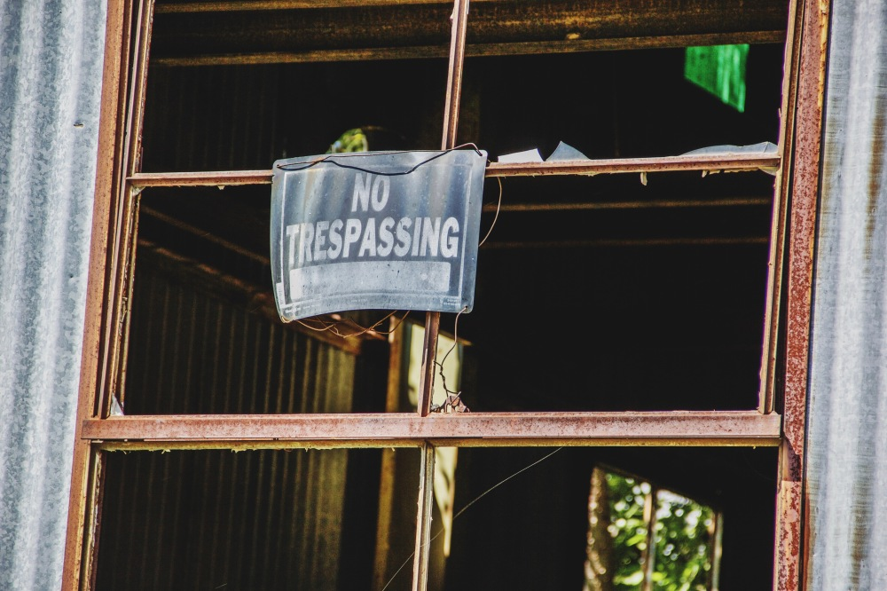 No trespassing, east texas photography