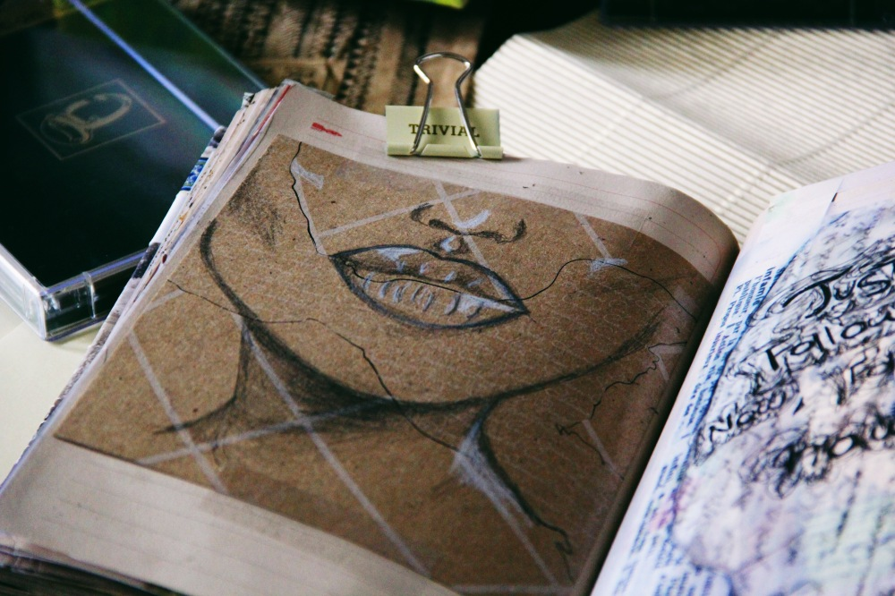 Lips and loveliness, art journal pages