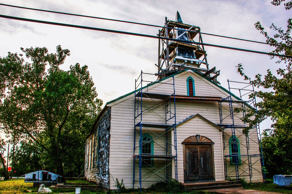 Church renovation in Nevada Texas