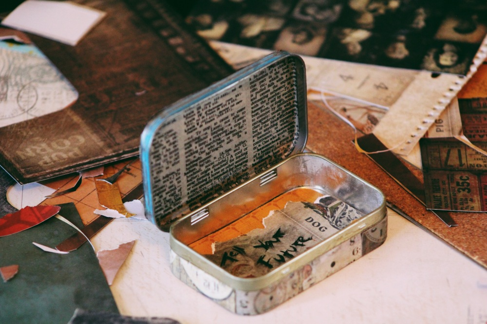Altered Altoids Tin, fables and coffee