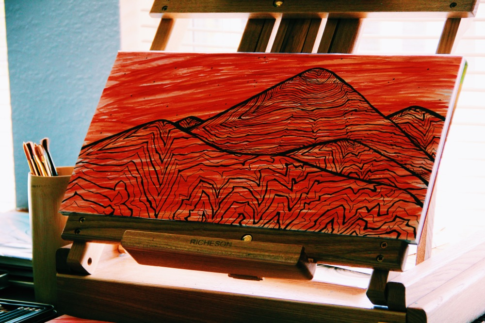 the red mountains, fables and coffee art