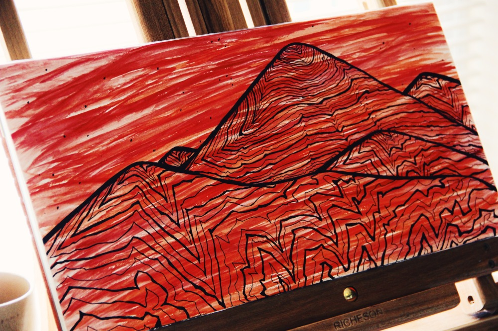 red mountains of Vulcan, idea