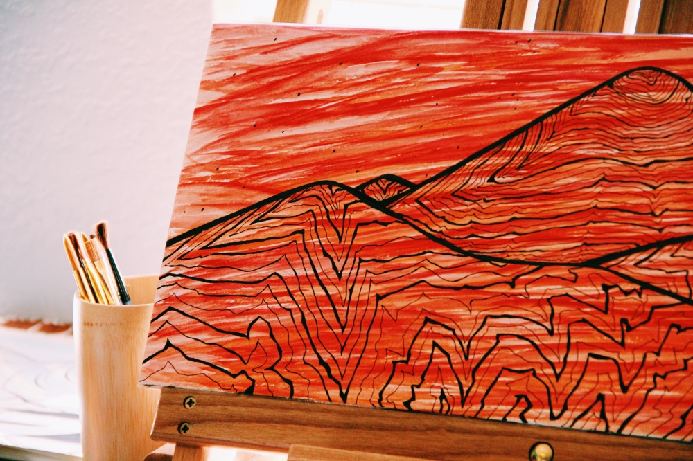 topography love, red mountains