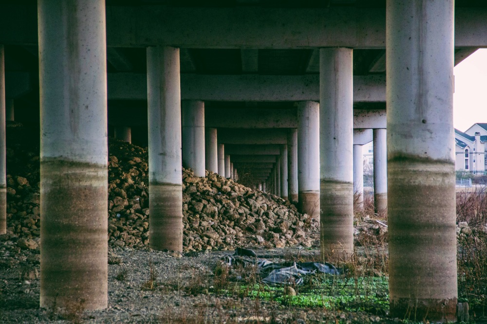 Exploring under the overpass, Rowlett TX