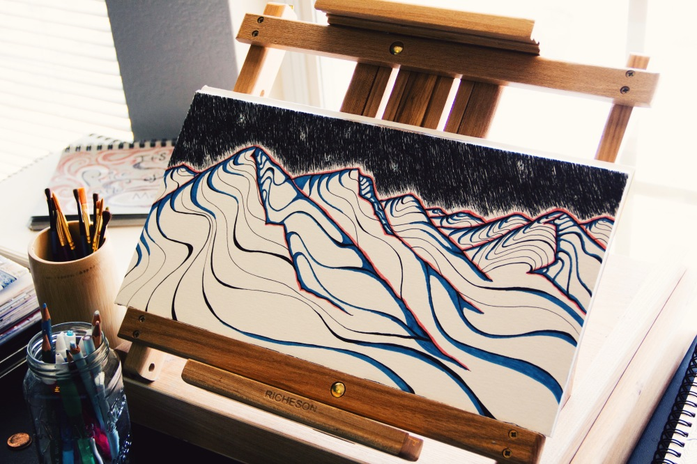 These 21 Mountains, Fablesandcoffee art