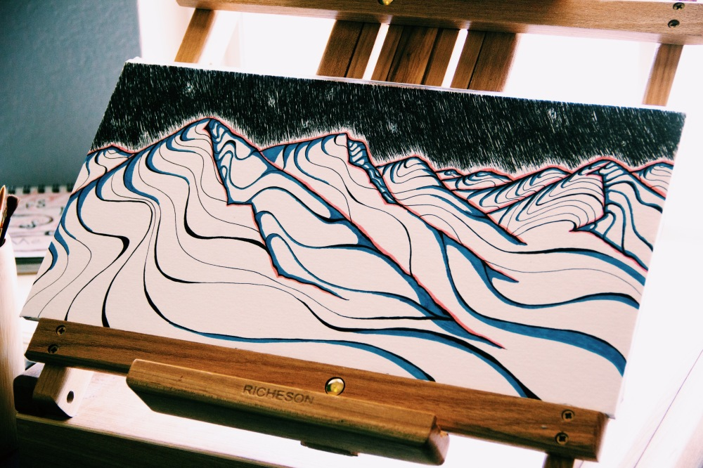 21 Mountains, typography art
