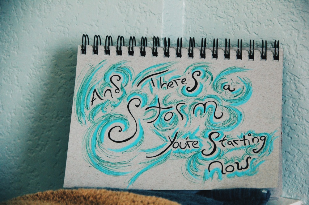 And There's A Storm, lyrics art