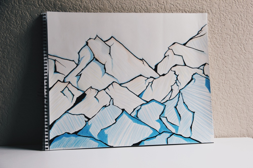 Behind closed eyes, the ice mountains