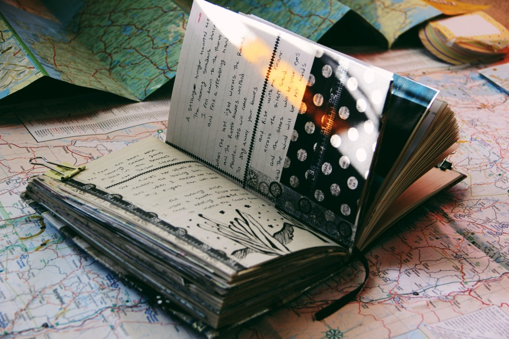 far from anyroad, art journal post