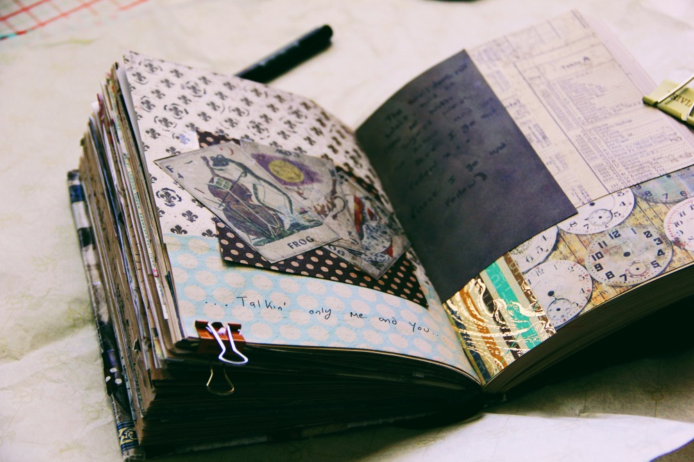art journal monday, fables and coffee