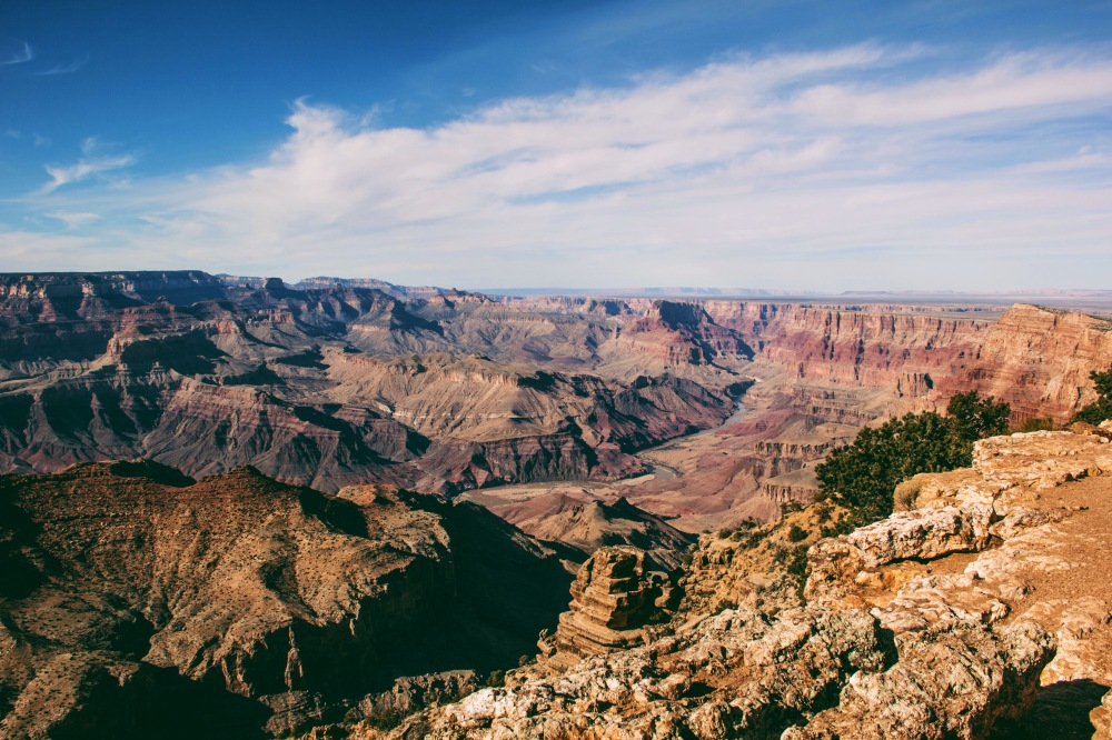 looking towards the desert flats, East Rim Grand Canyon