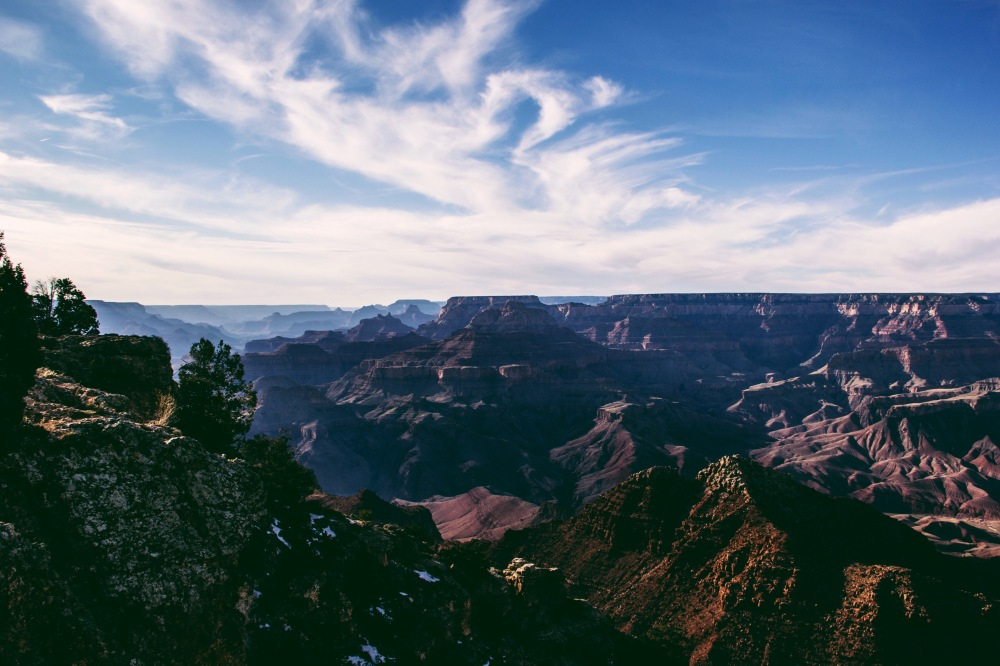 east rim, Grand Canyon view