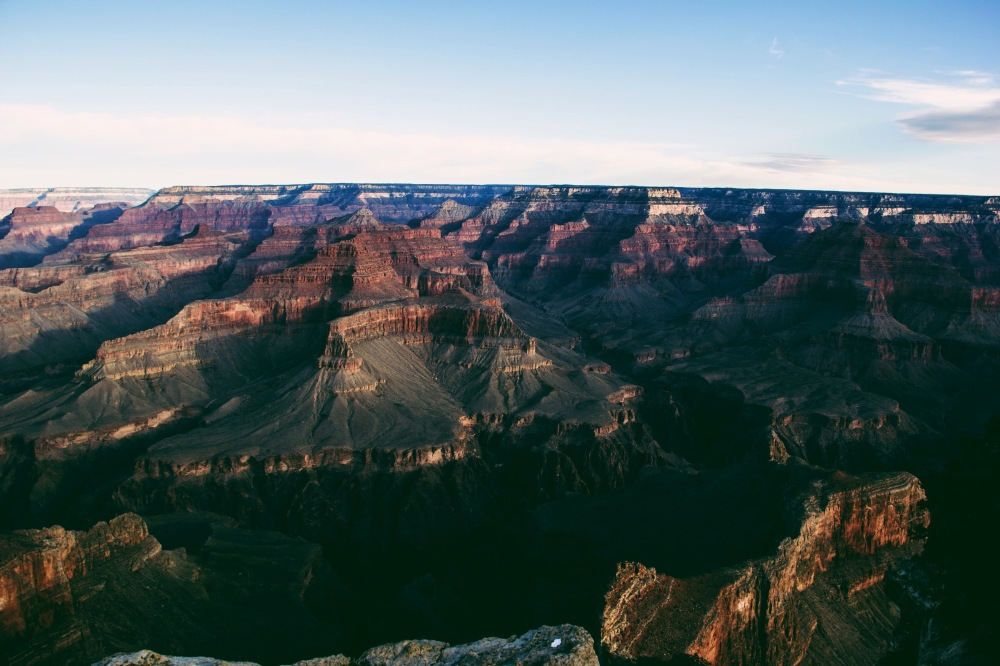 the grand canyon, south rim, at sunrise